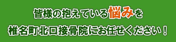皆様の抱えている悩みを椎名町北口接骨院にお任せください!
